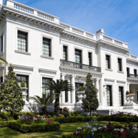 White Mansion in Savannah