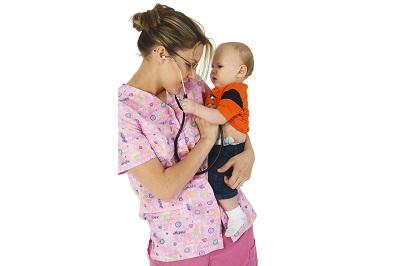 nurse and baby boy.