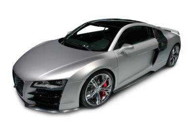 Audi R8 on white background
